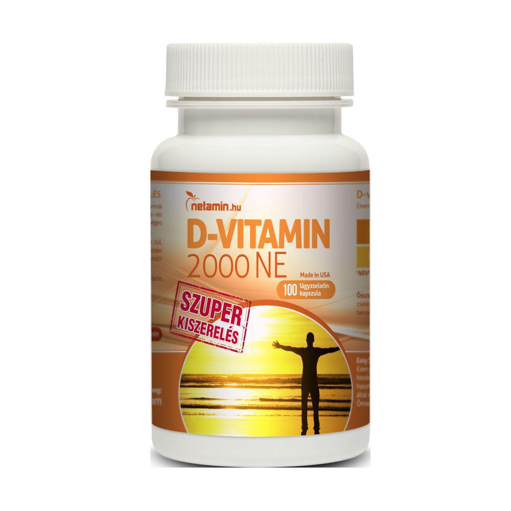 Netamin D-vitamin 2000 IU 100 caps